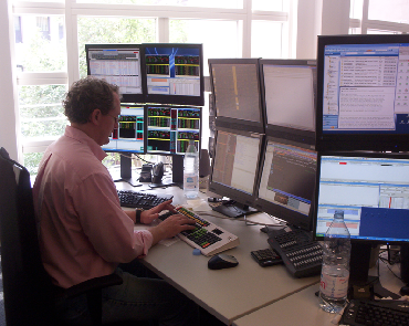 Ergonomic assessment of a financail trader working at multiple screens